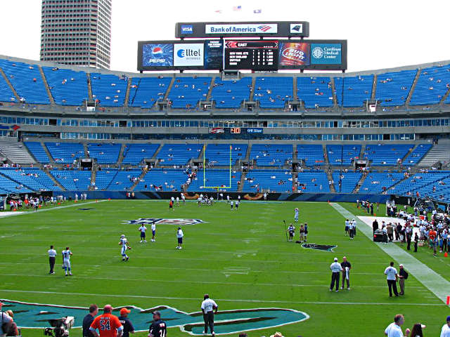 Carolina Panthers Lower End Zone