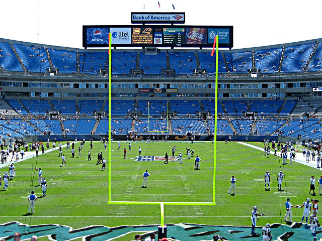 Carolina Panthers Middle End Zone