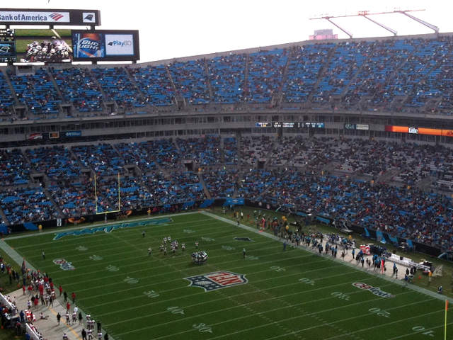 Carolina Panthers Upper End Zone